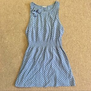 Glamorous cotton searsucker tea dress blue J. Crew
